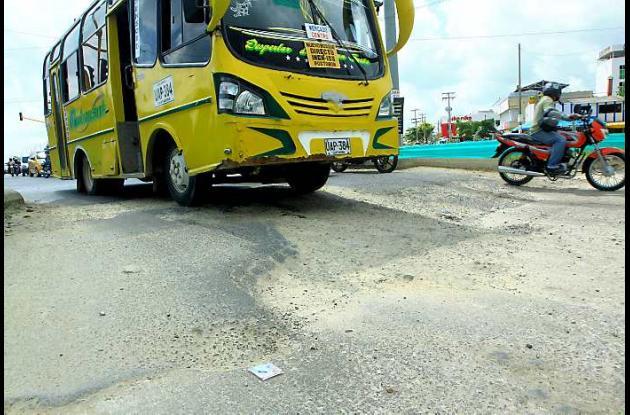 Deterioro de vías en Cartagena