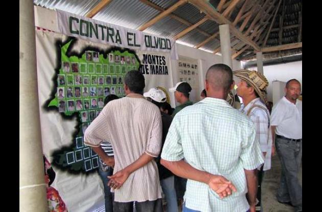 Habitantes de Las brisas, víctimas de los paramilitares en la masacre del 11 de