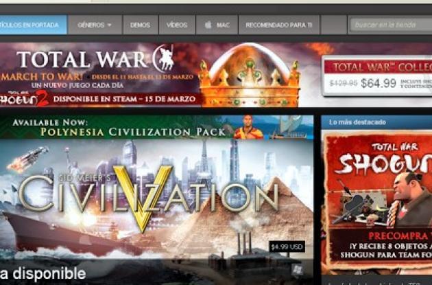 Steam, tienda virtual de video juegos.