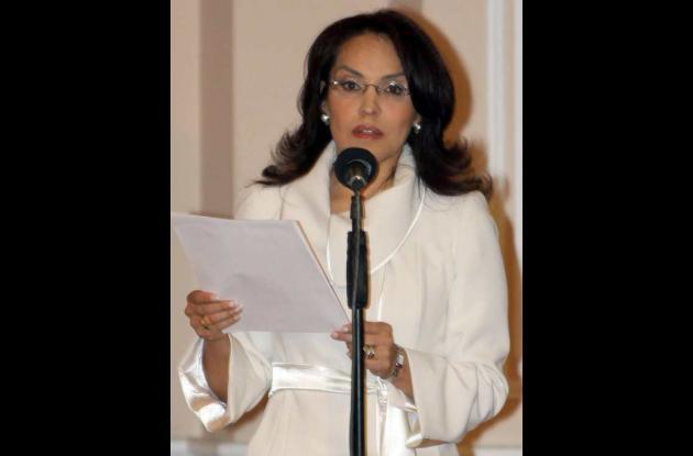 La Fiscal General de la Nación, Viviane Morales, esposa de Carlos Alonso Lucio.