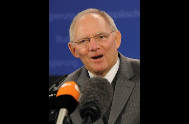 Wolfgang Schaeuble, ministro alemán de Finanzas.