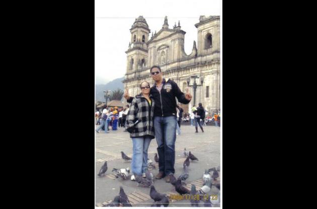 Yelissa y Juan Carlos en esta foto se encontraban en Bogotá.