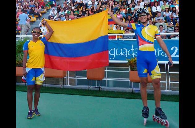 Yercy Puello y Pedro Causil ocuparon este jueves los lugares más altos del podio