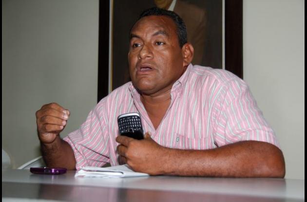 Yonairo Sáenz, promotor de la consulta popular.