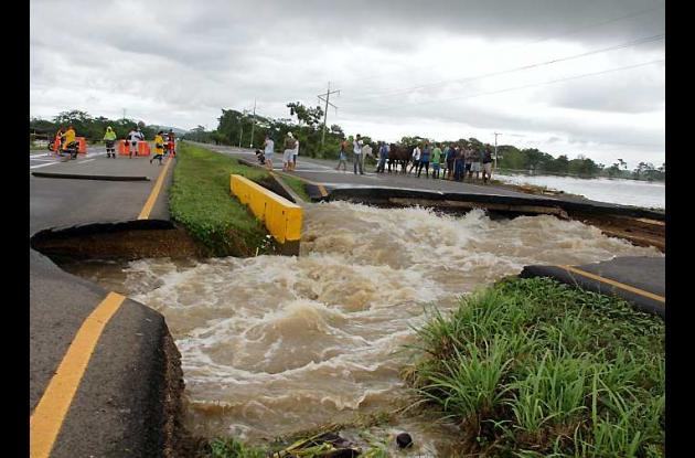 La carretera La Cordialidad es una de las vías que sufre los estragos de las llu