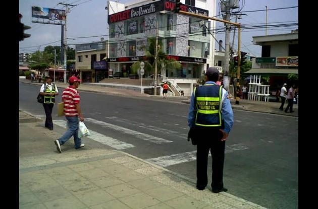 Control peatonal en La Castellana