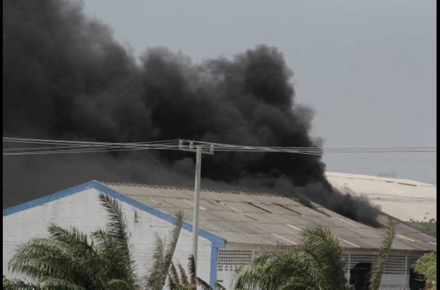 Incendio en Zona Franca de Barranquilla.