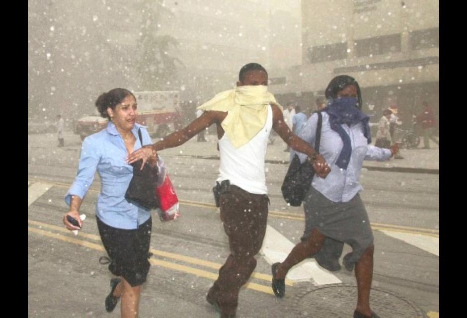Luego del colapso, muchos lograron escapar