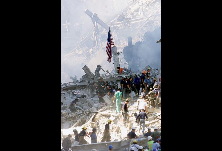 Las ruinas del edificio muestran la magnitud