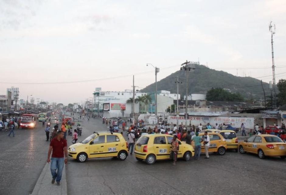 Paro de taxistas en Cartagena