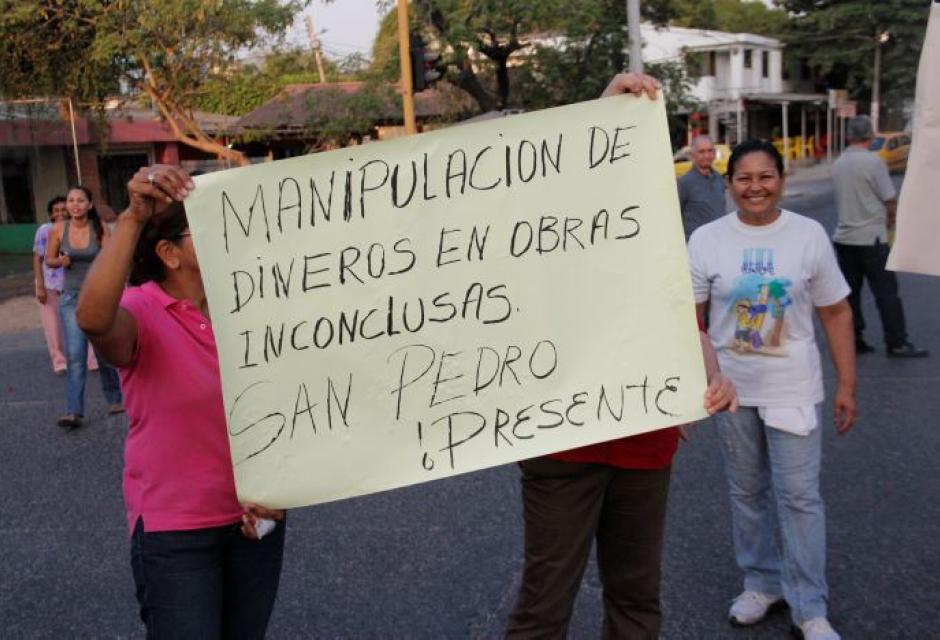Marcha de protesta San Pedro