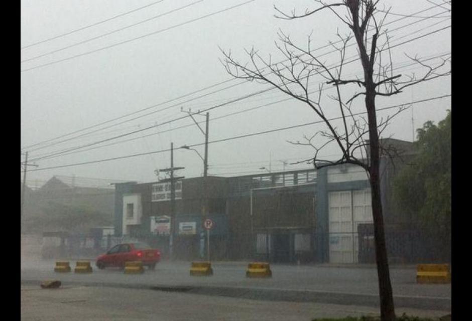 Inundaciones causadas por lluvias en Cartagena.