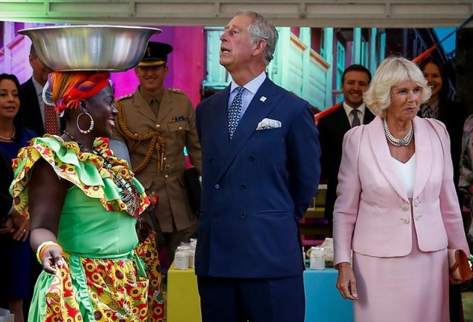 Príncipe Carlos en su visita a Colombia