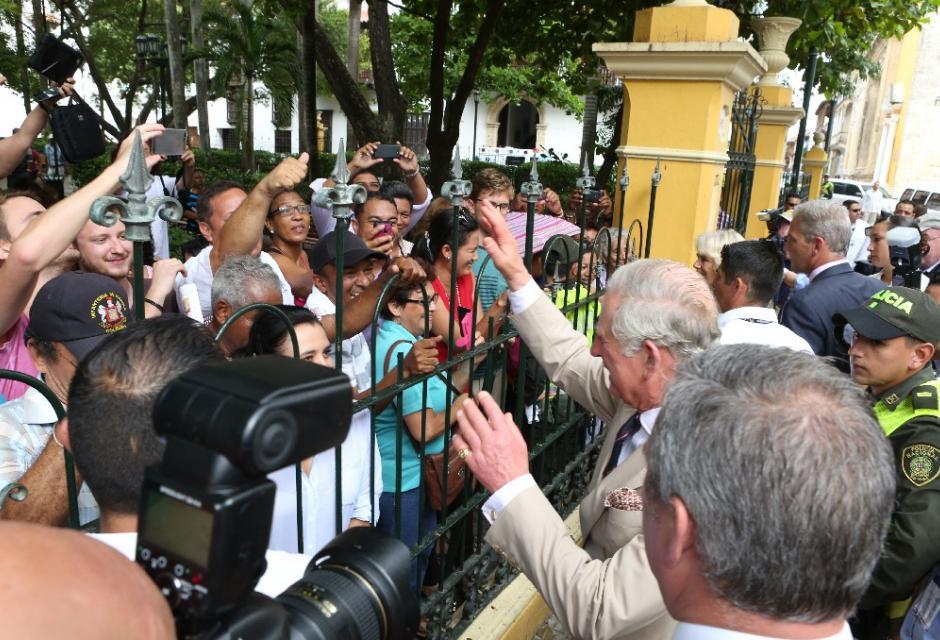 Príncipe Carlos en su visita a Cartagena