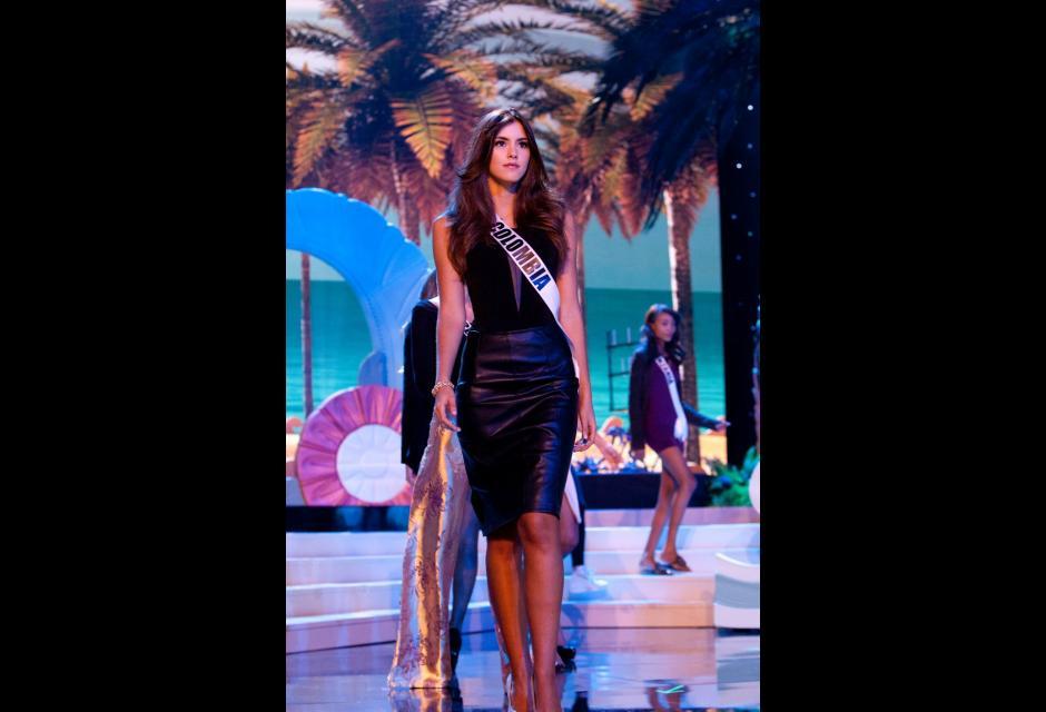 Durante el concurso de Miss Universo. paulina vega dieppa
