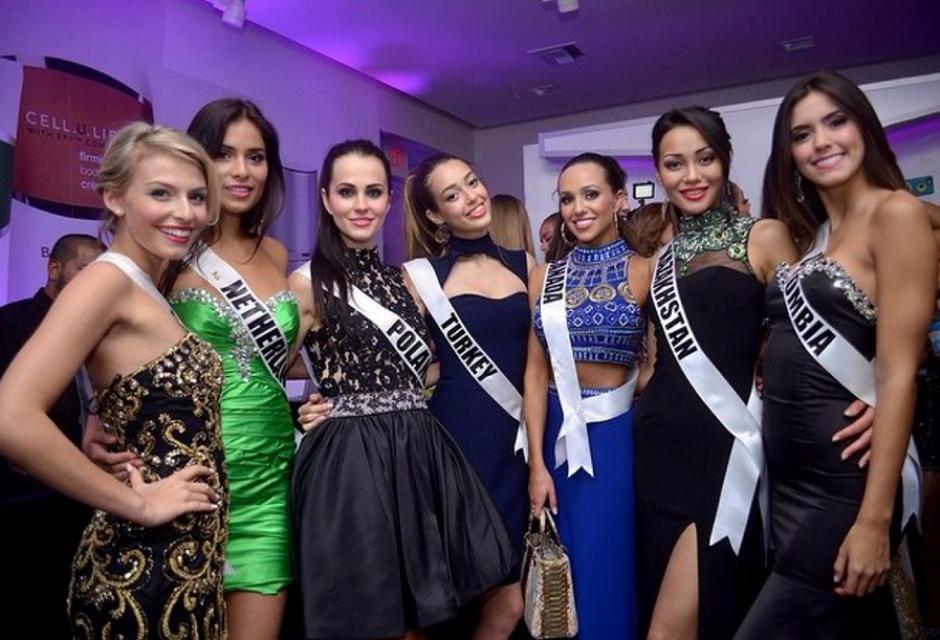 Durante el concurso Miss Universo. paulina vega dieppa