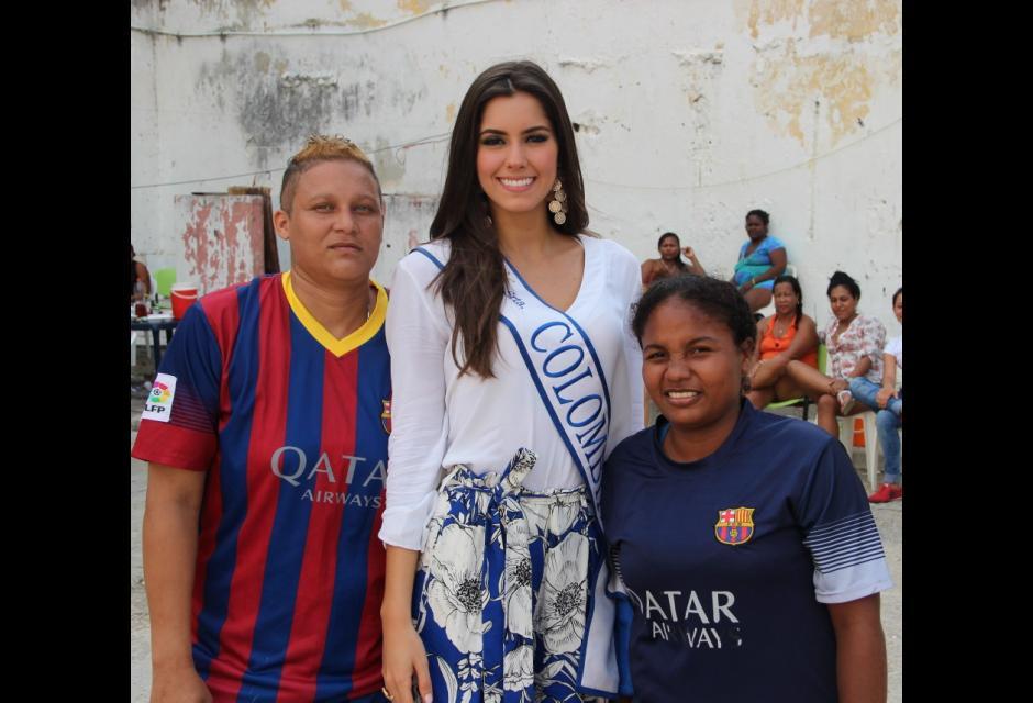 Visita a la cárcel de San Diego de Cartagena. paulina vega dieppa