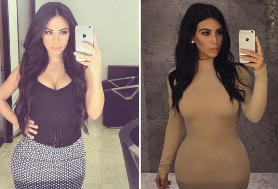 Jimena Sánchez y Kim Kardashian.
