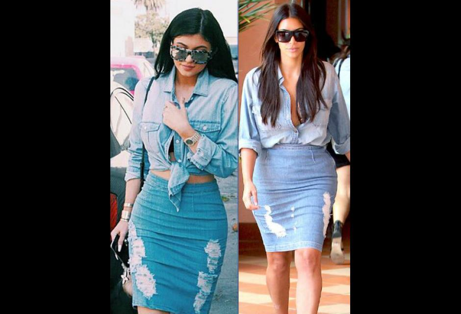 Kylie Jenner y Kim Kardashian.