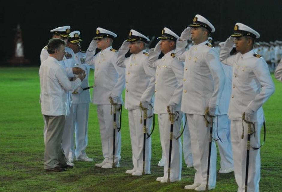 Ceremonia Militar por los 192 años de la Armada Nacional, realizada en la Escuela Naval de Cadetes