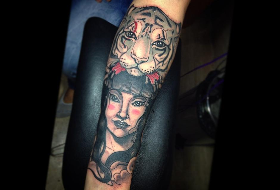 Tatuaje de Andrés Felipe Methza.