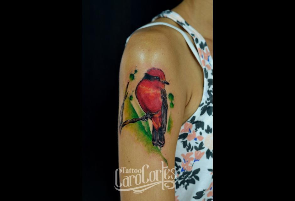Tatuaje de Caro Cortés.