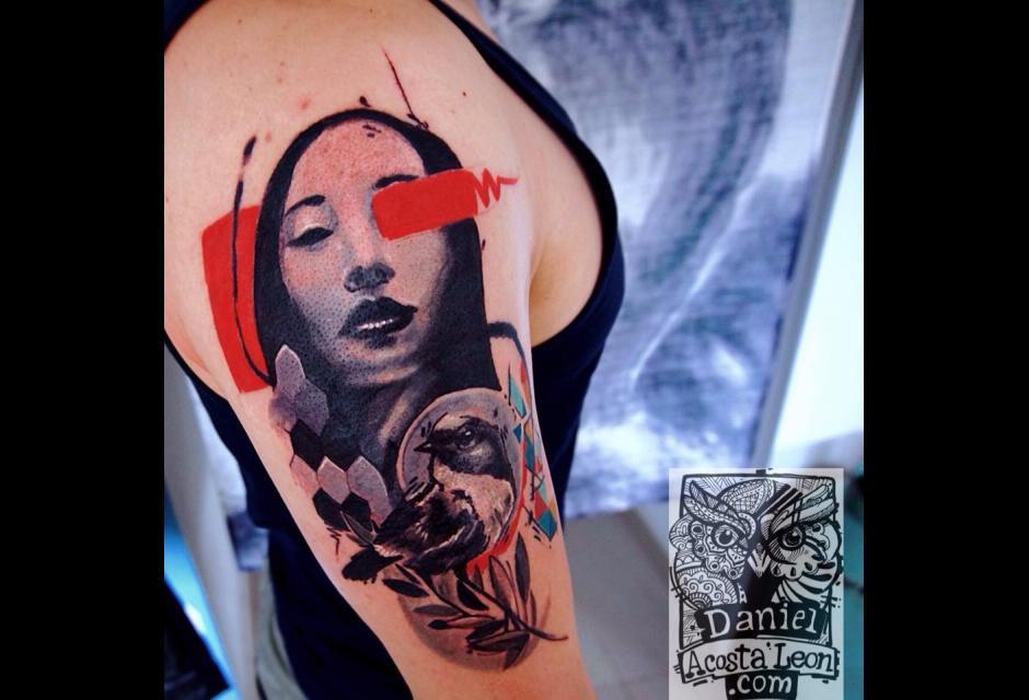 Tatuaje de Daniel Acosta León.
