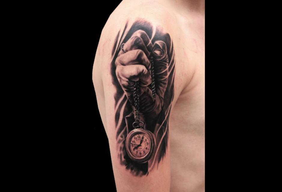 Tatuaje de Jhon Gutti.