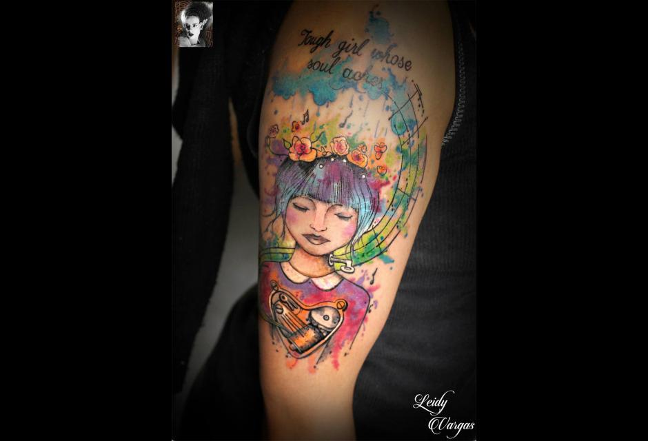 Tatuaje de Leidy Vargas.