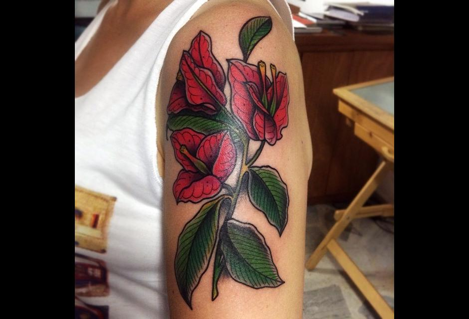 Tatuaje de Stephania Cuervo.