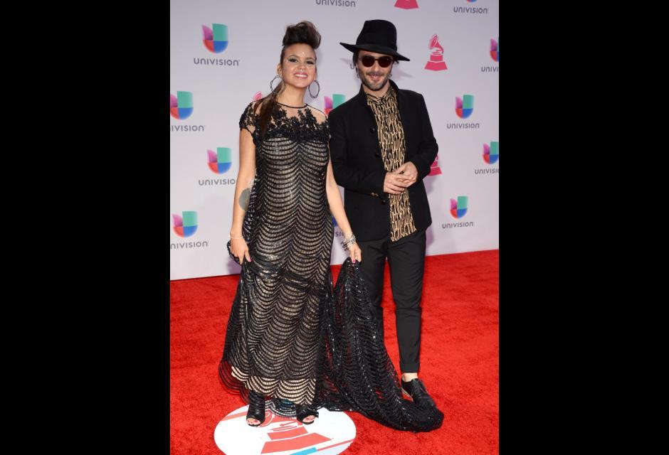 Liliana Saumet y Simón Mejía. latin grammy 2015
