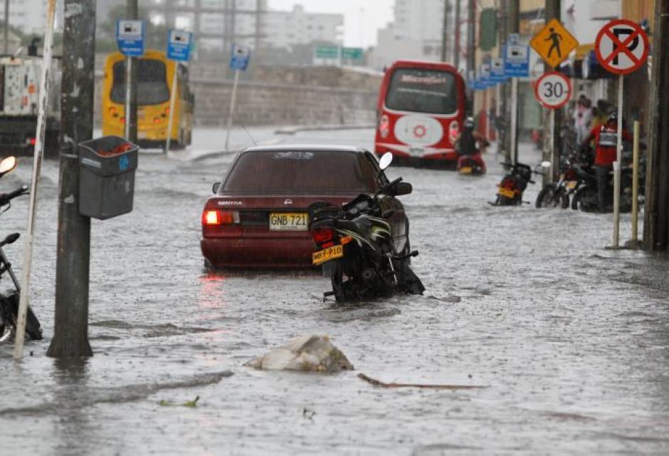Centro de Cartagena inundado