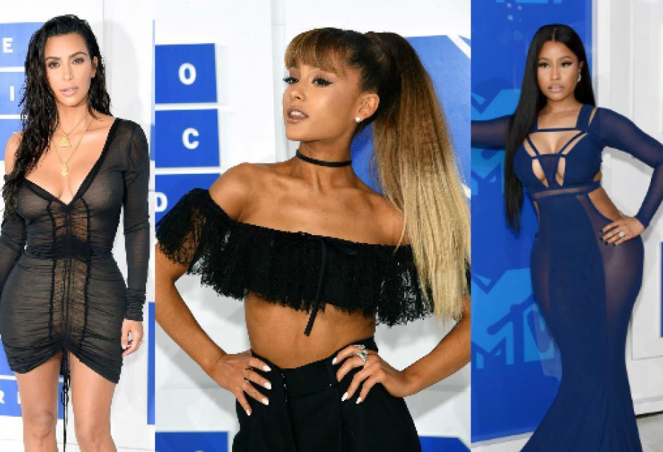 Kim Kardashian, Ariana Grande y Nicky Minaj.