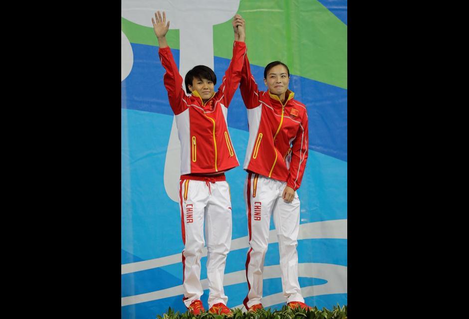Wu Minxia y Shi Tingmao.