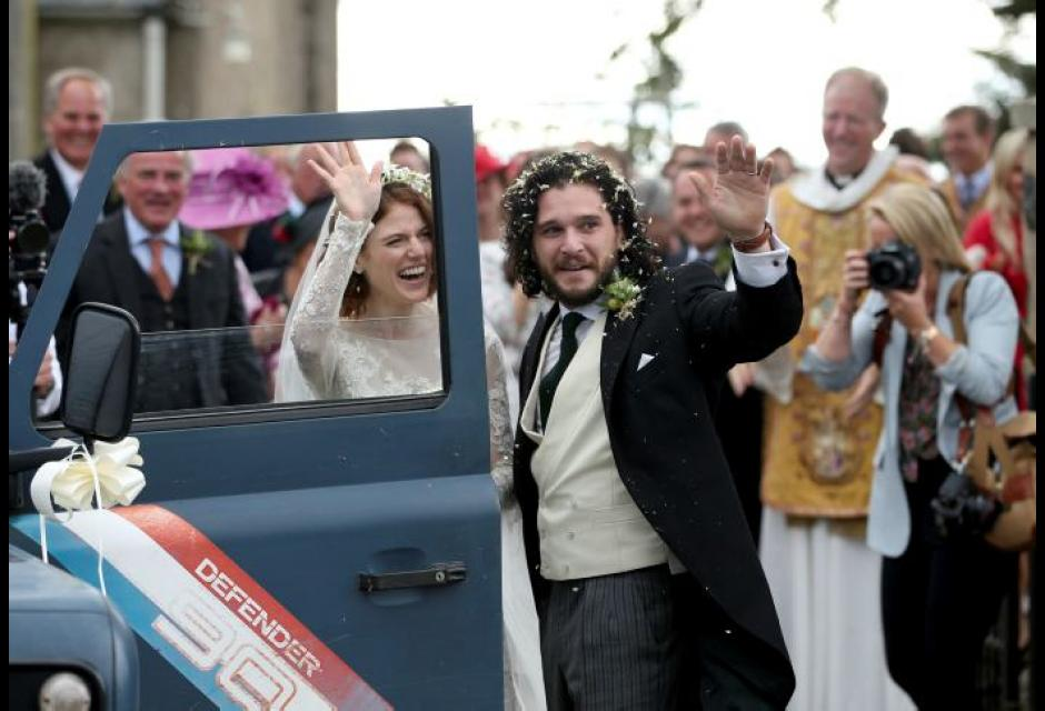 Kit Harington y Rose Lesli boda