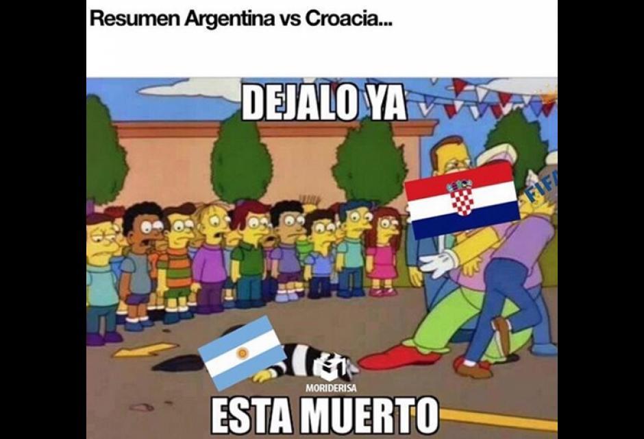 Argentina pierde ante Croacia.