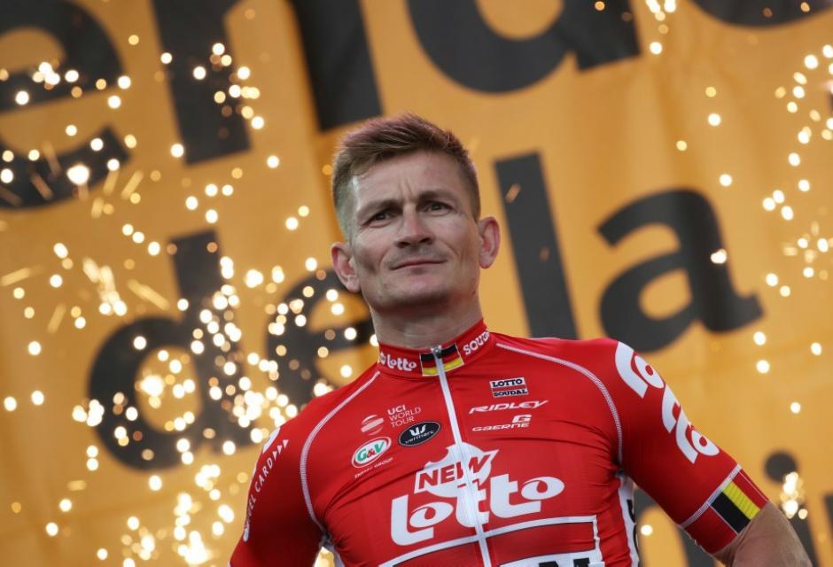 Andre Greipel durante presentación del Tour de Francia 2018