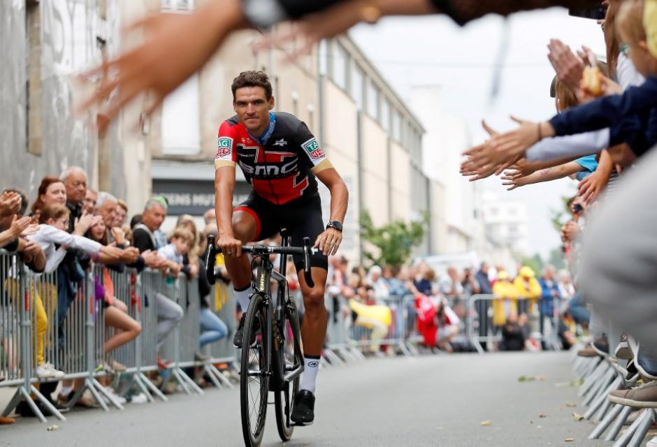 Greg Van Avermaet durante presentación del Tour de Francia 2018