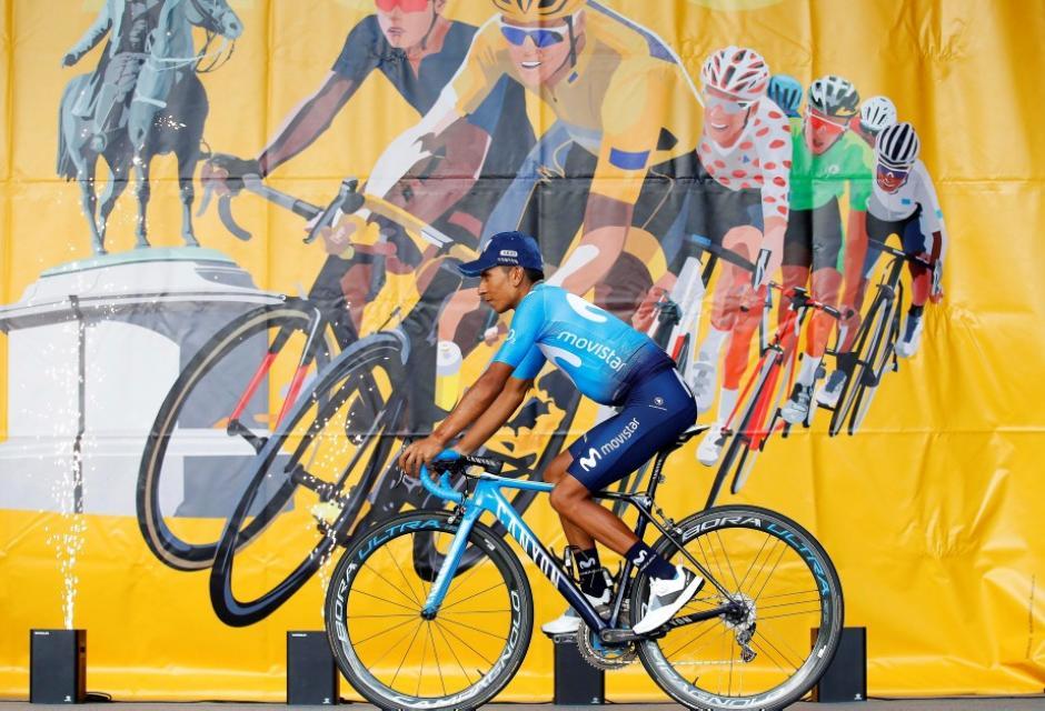 Nairo Quintana durante presentación del Tour de Francia 2018
