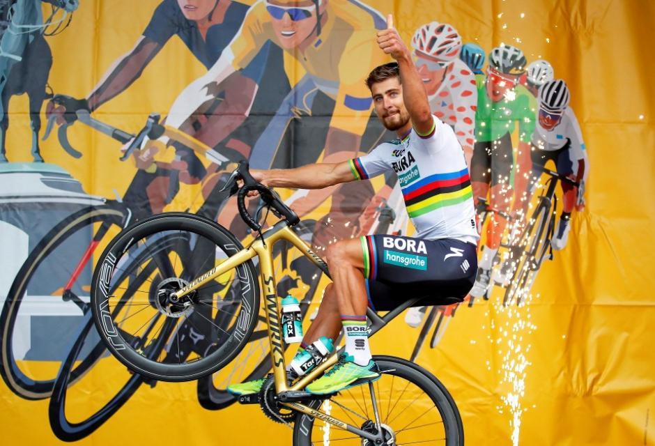 Peter Sagan durante presentación del Tour de Francia 2018