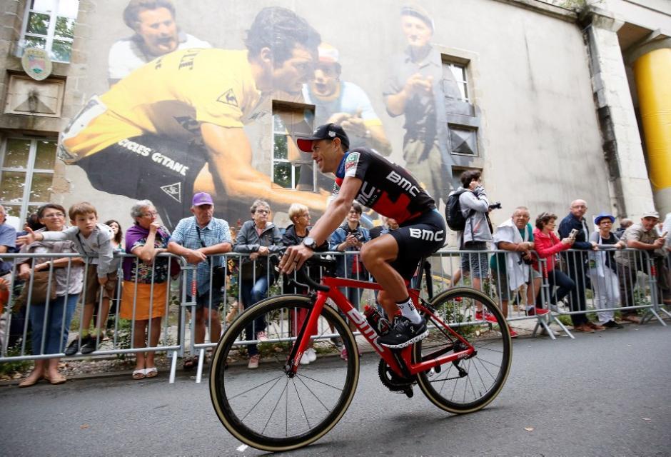 Richie Porte durante presentación del Tour de Francia 2018