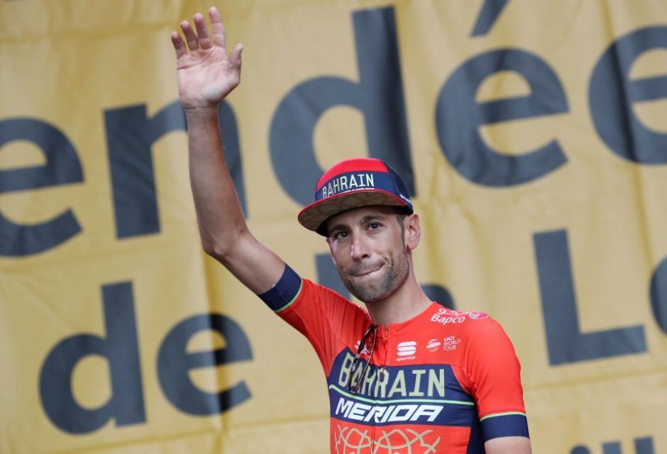 Vincenzo Nibali durante presentación del Tour de Francia 2018