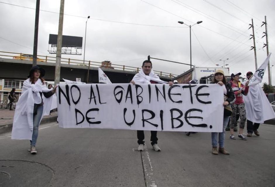 Protesta por posesión de Iván Duque