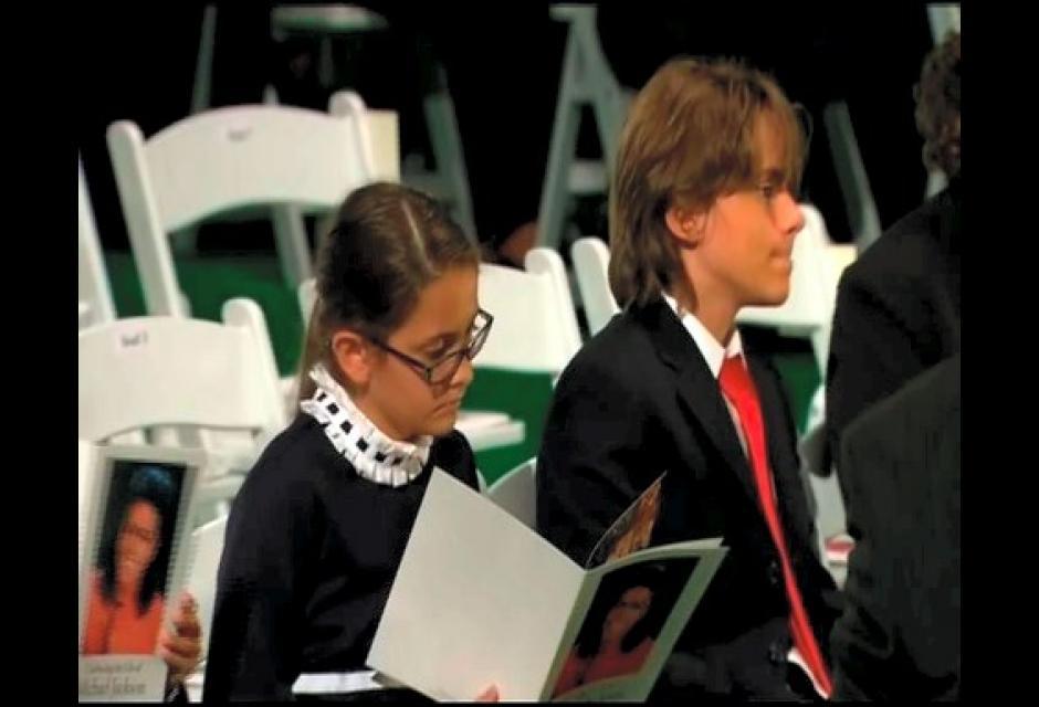 Los hijos mayores de Michael Jackson.