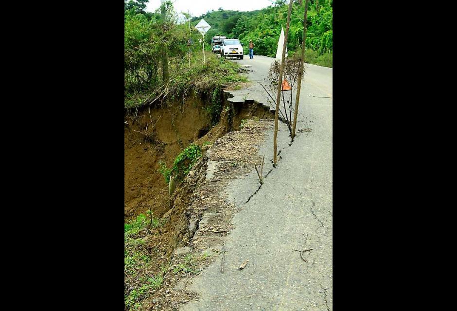 Erosiones debilitan el terreno