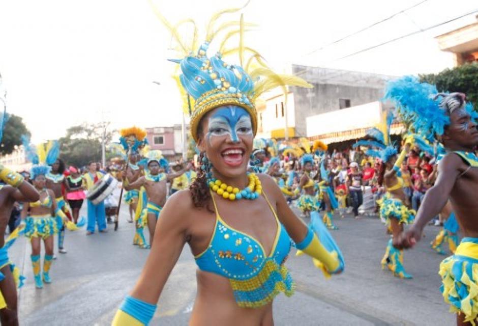 Grupo de danzas Efraín Villegas de Cartagena de El Pozón.