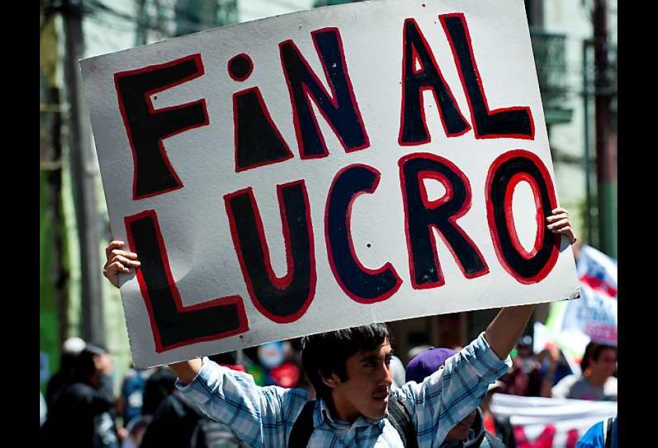 Los estudiantes exigen reformas al sistema educativo chileno