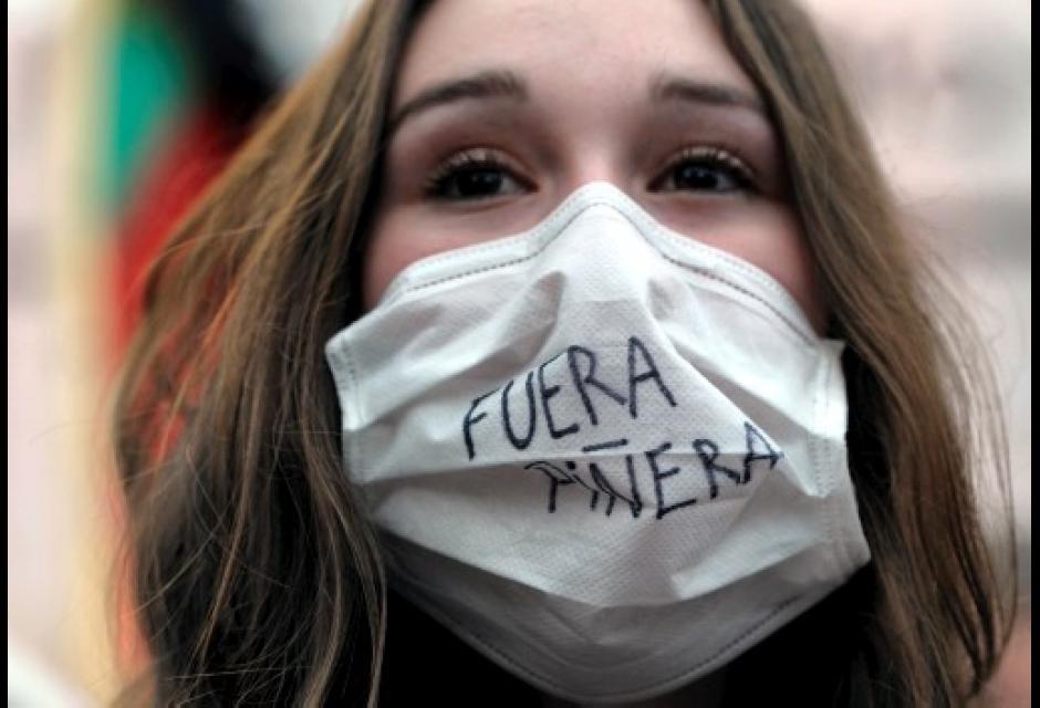 Las protestas en Chile movilizaron a cientos de estudiantes