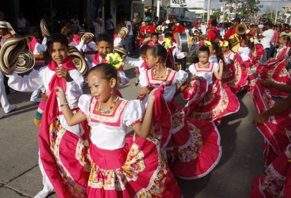 Desfile de fandangueritos en Sincelejo