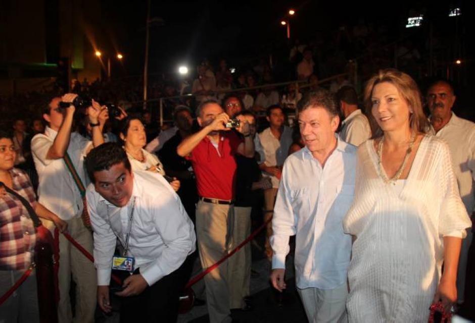 El presidente de la república Juan Manuel Santos